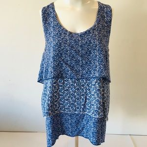 4x$20 🌸 Live And Let Live Sleeveless Blue Floral…